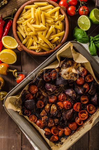 Vegetariano legumes vinagre balsâmico bio orgânico Foto stock © Peteer