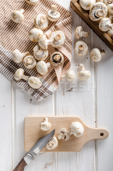Fresh mushrooms cleaning Stock photo © Peteer