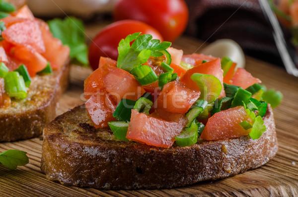 Français ail Toast légumes salade alimentaire Photo stock © Peteer