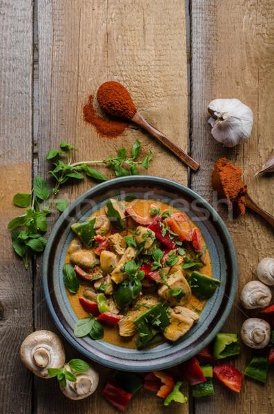 Strigliare pollo vegetali alimenti freschi alimentare fotografia Foto d'archivio © Peteer