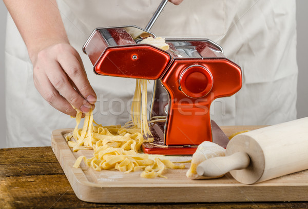 Chef production pasta - Italian pasta grinder Stock photo © Peteer