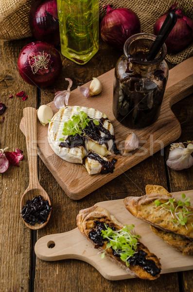 焼いた パン ブリーチーズ 玉葱 タマネギ ストックフォト © Peteer