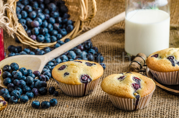 Süt reçel sepet tok Stok fotoğraf © Peteer
