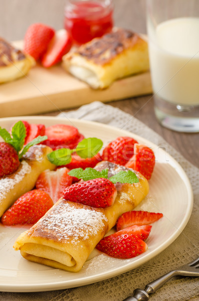 Cheese Blintzes Stock photo © Peteer