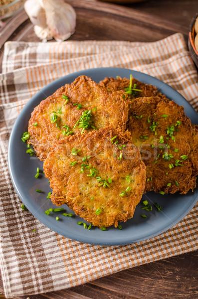 Stock photo: Potato pancakes fried