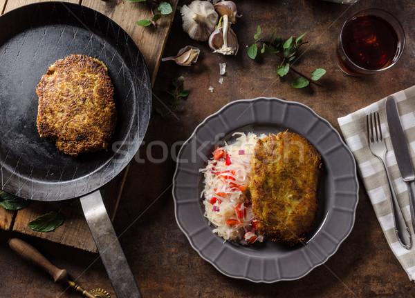 картофеля капустный салат место торт золото Сток-фото © Peteer