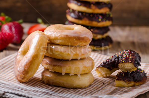 Homemade donuts two kinds Stock photo © Peteer