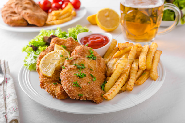 Wiener schnitzel original Stock photo © Peteer