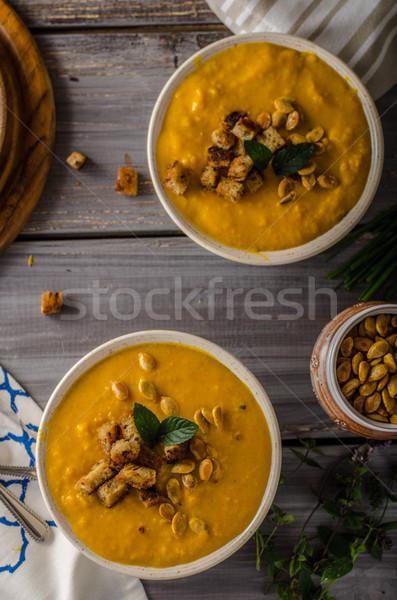Pumpkin soup delish organic soup Stock photo © Peteer