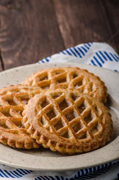 Stockfoto: Cookies · appel · vulling · eigengemaakt · voedsel · fotografie