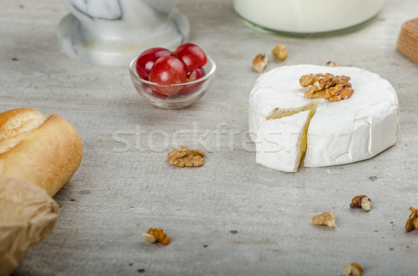 Fresh camembert from organic farms Stock photo © Peteer