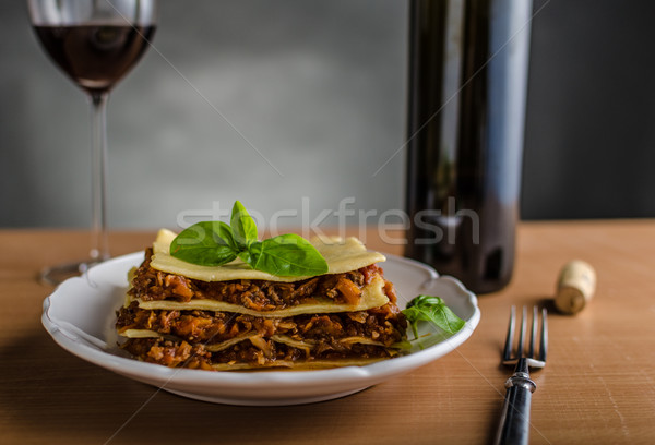 Lasagne bolognese Stock photo © Peteer