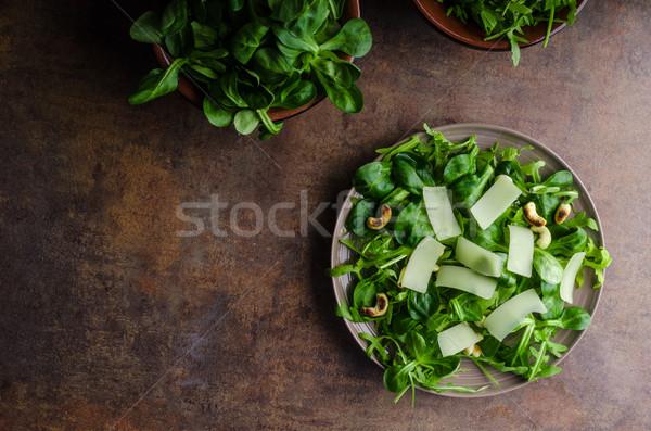 新鮮な サラダ バイオ 子羊 レタス ストックフォト © Peteer