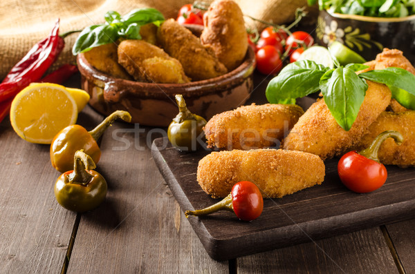 Homemade potato croquettes Stock photo © Peteer