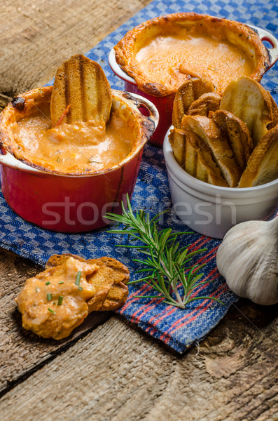 Tomate fromages croustillant ail Photo stock © Peteer
