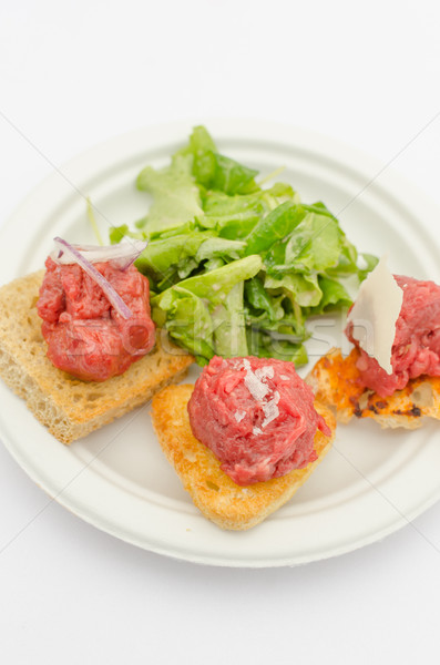 Variations of tartare Stock photo © Peteer