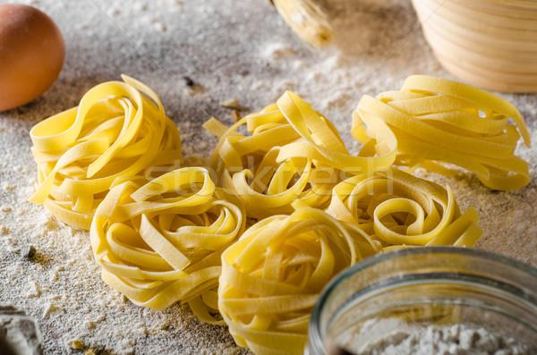 Casero pasta bio listo anuncio texto Foto stock © Peteer