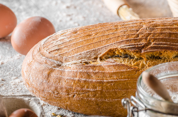 Pão cominho pronto texto livre Foto stock © Peteer