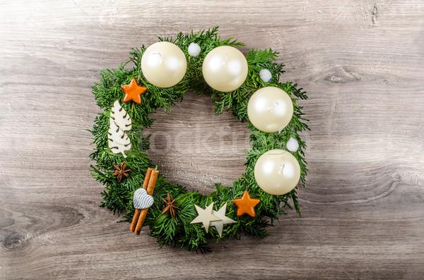 Advent wreath Stock photo © Peteer