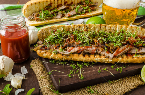 Steak sandwich Stock photo © Peteer