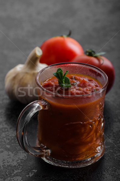 Tomato hot salsa - prepare for pasta Stock photo © Peteer