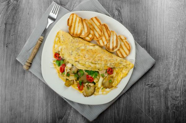 素朴な ベジタリアン キノコ 食品 緑 ストックフォト © Peteer
