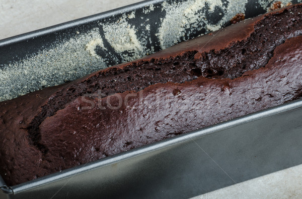 Chocolate cake with strawberries and grapes Stock photo © Peteer