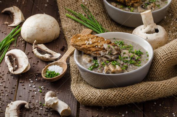 гриб суп травы bio здорового Сток-фото © Peteer