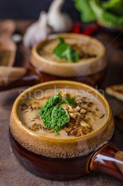 クリーミー スープ カリフラワー キャベツ ストックフォト © Peteer