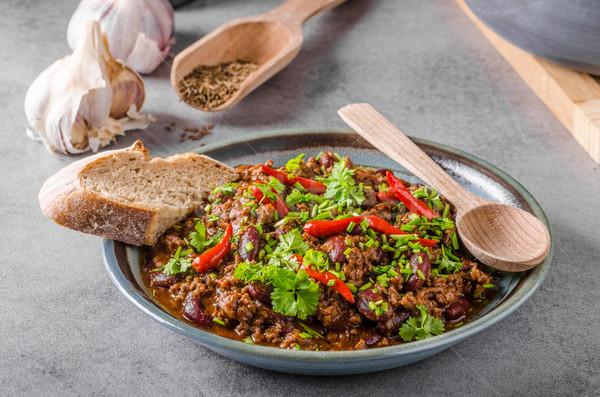 Delicious chilli con carne Stock photo © Peteer