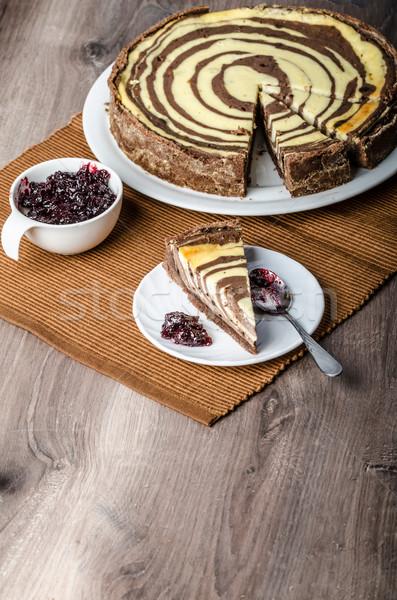 Two-tone cheesecake Stock photo © Peteer