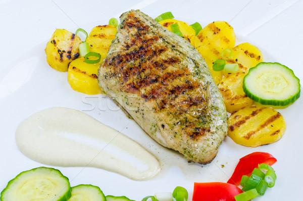 Stockfoto: Grill · Turkije · houten · tafel · restaurant