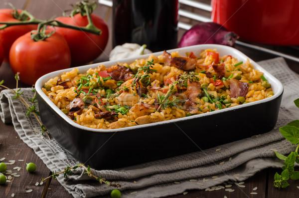 Cajun chicken with rice Stock photo © Peteer