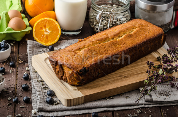 Yoghurt zoete brood zaad bio Stockfoto © Peteer