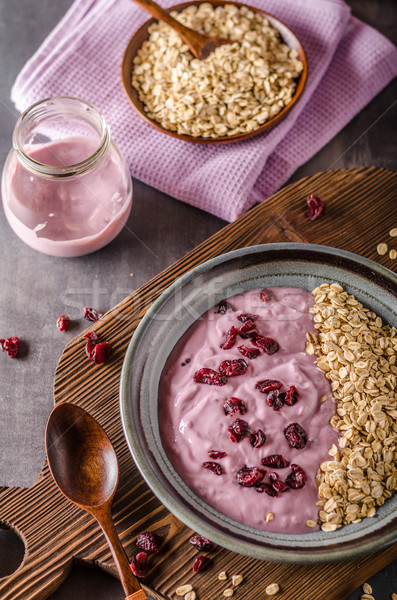Stok fotoğraf: Yaban · mersini · yoğurt · sağlıklı · biyo · kahvaltı · meyve