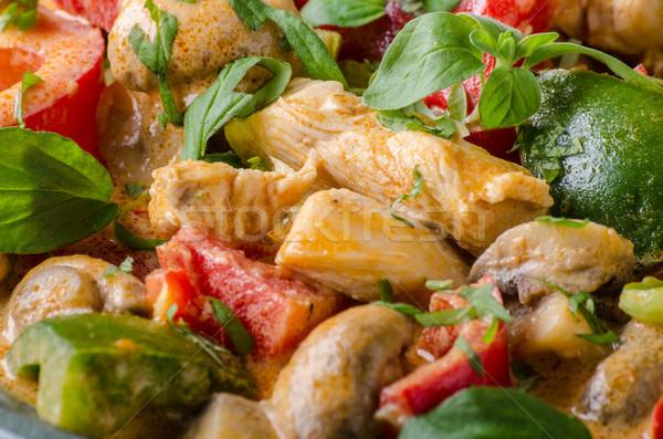 Köri tavuk sebze taze gıda gıda fotoğrafçılık Stok fotoğraf © Peteer