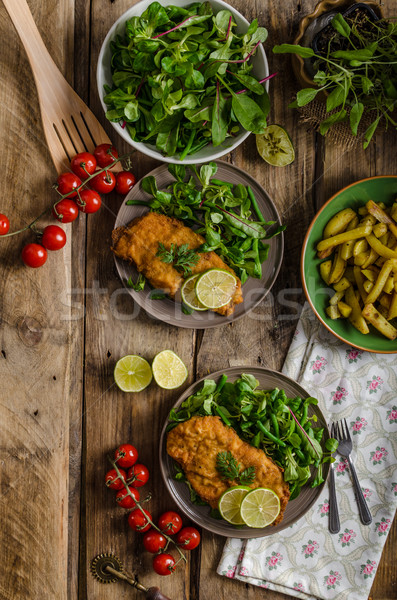 True Viennese schnitzel Stock photo © Peteer