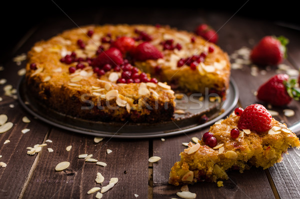 Stock photo: Homemade polenta cake