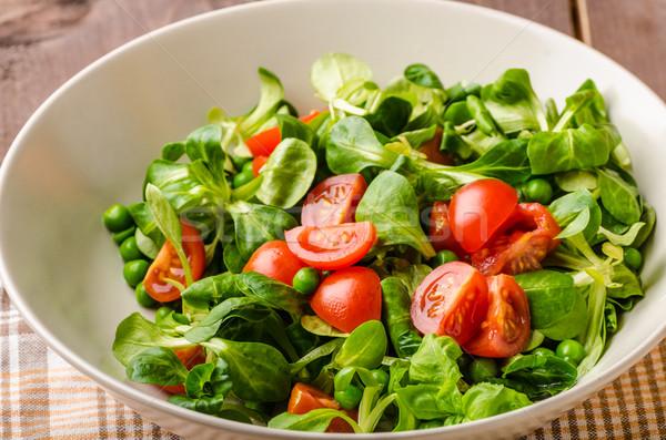 Lam sla salade tomaat smakelijk eenvoudige Stockfoto © Peteer