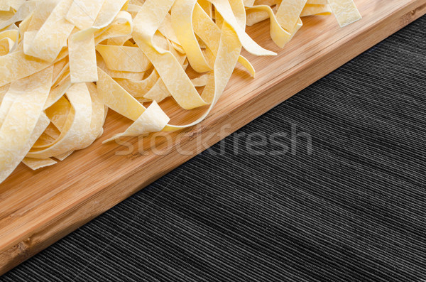 Fresh pasta pappardelle Stock photo © Peteer