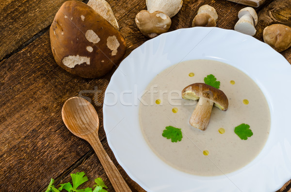 Mushrooms soup creame Stock photo © Peteer