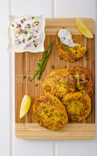 Stock photo: Cauliflower curry pancakes