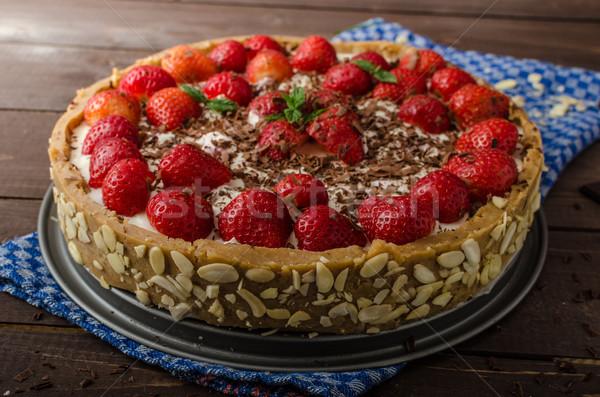 Summer strawberry cheesecake Stock photo © Peteer