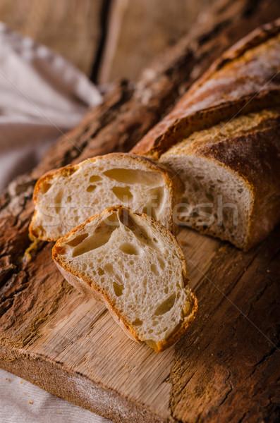 Ciabatta bread product photo Stock photo © Peteer