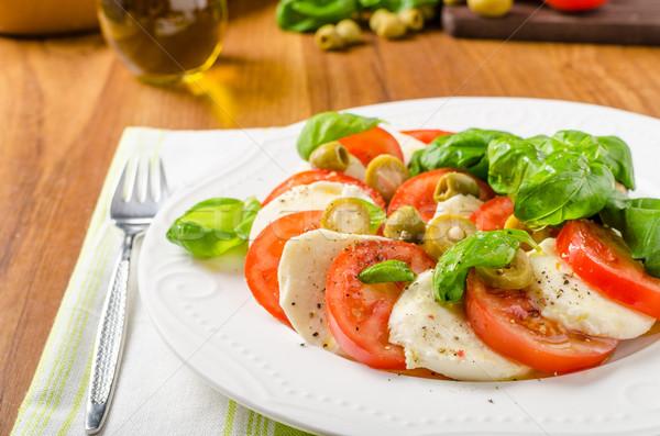 カプレーゼサラダ イタリア語 サラダ バジル トマト ストックフォト © Peteer