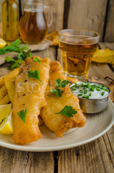 Fish and chips Stock photo © Peteer
