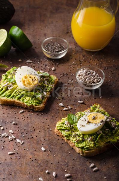 Teljes kiőrlésű szendvics egészséges tele bio magok Stock fotó © Peteer
