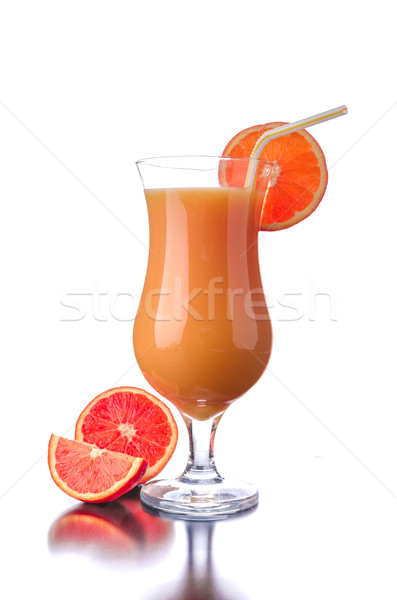 Red orange juice reflection Stock photo © Peteer