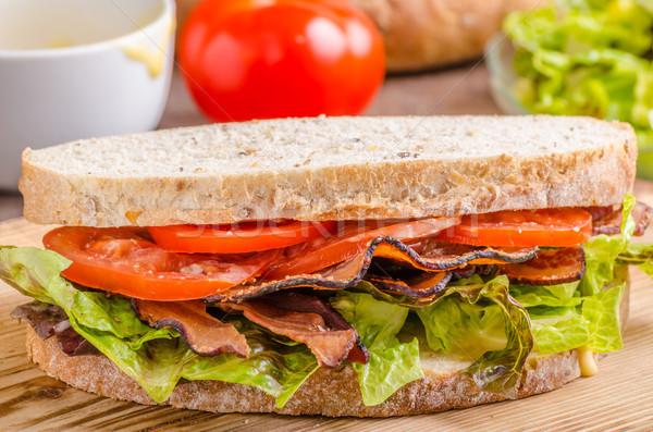 Blt サンドイッチ レタス 健康 パン 食品 ストックフォト © Peteer