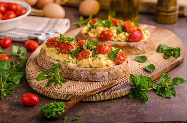 Bread scrambledd eggs Stock photo © Peteer